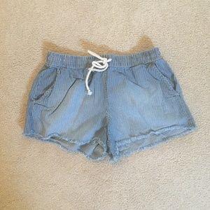 aerie Shorts - Aerie Denim Cut Off Fringe Shorts